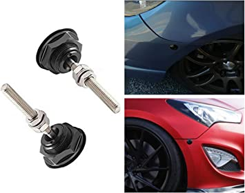 Red STETION Quick Release Latch License Plate Lock Clip 1.25 Diameter Aluminum Alloy Car Hood Pins Lock Clip Kit for Bumper Hood License Plate