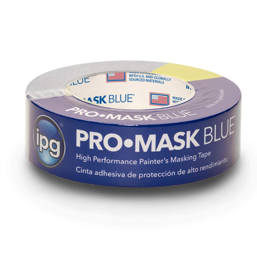 """IPG ProMask Blue, 14-Day Painter's Tape, 1.41"""" x 60 yd, Blue, (Single Roll)"""