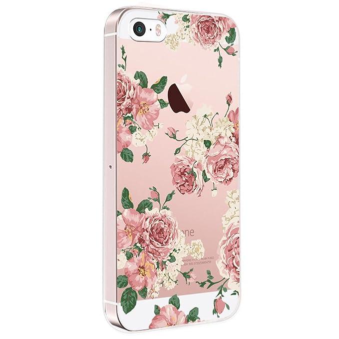 Pacyer Case kompatibel mit iPhone SE Hülle Silikon Ultra dünn Transparent iPhone 5S iPhone 5 Handyhülle Rückschale TPU Schutz