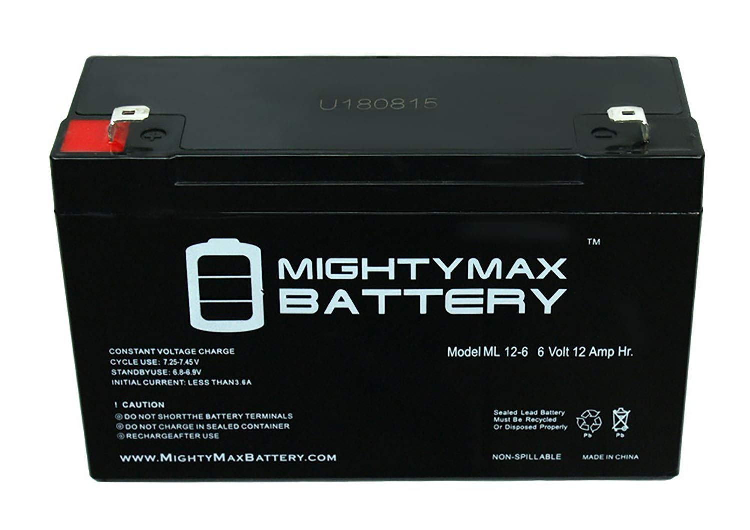 Mighty Max Battery 6V 12AH F2 SLA Replacement Battery for Vision CP6100 CP6100D Brand Product