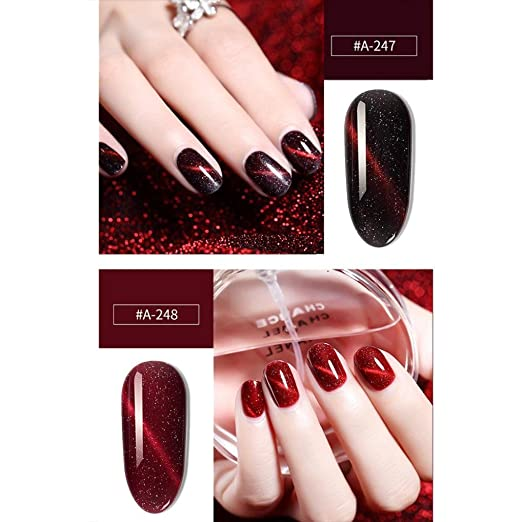 Amazon.com : Clearance Sale! Nail Gel Polish for Girls, Iuhan Womens Shiny 3D Chameleon Cat Eye Magnetic Gel Gradient Starry Soak Off Nail UV Polish (F) : ...
