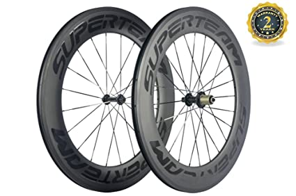 Carbon Fiber Wheels >> Amazon Com Superteam 88mm Carbon Fiber Wheels 23mm Width