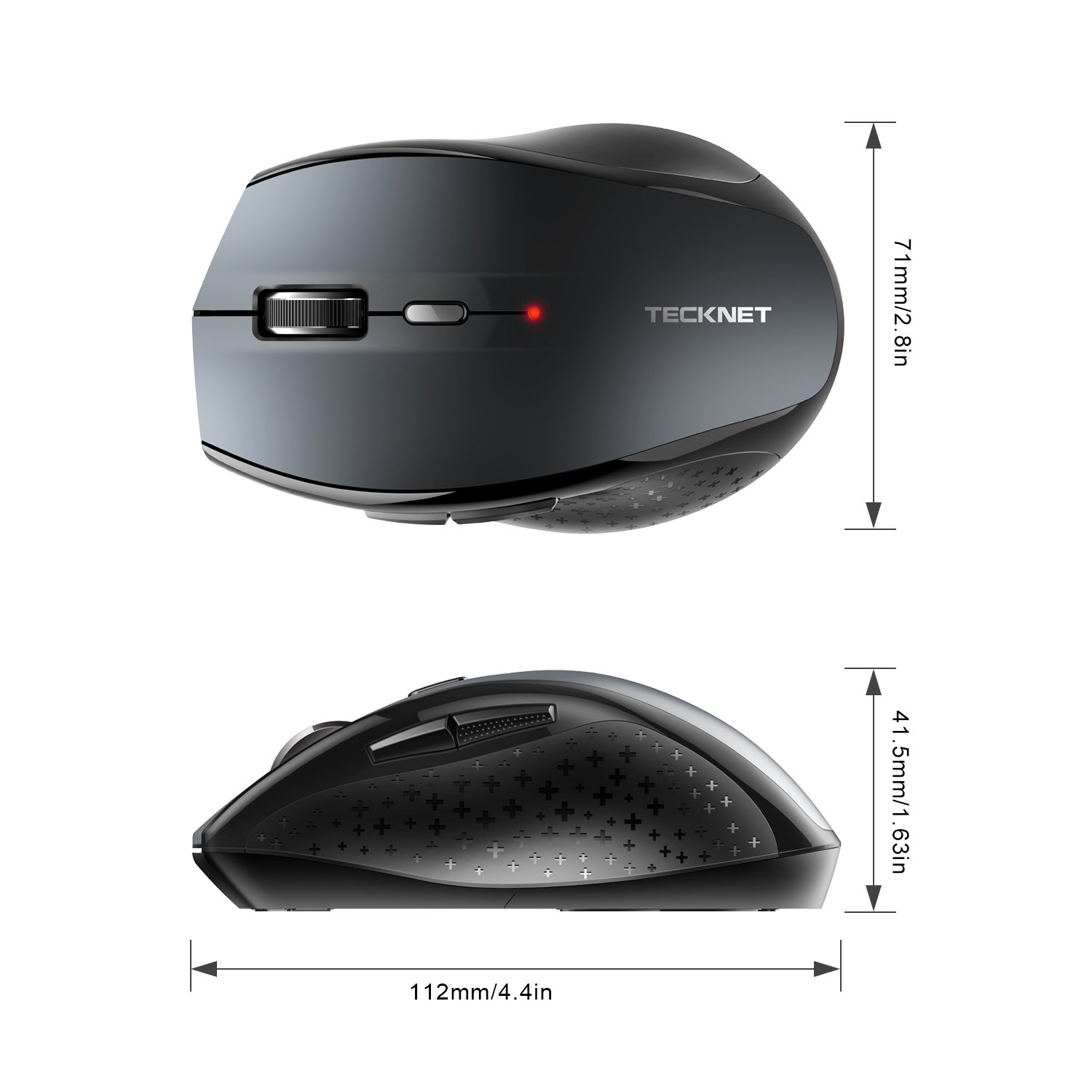 ce19ad8a16f Review for TeckNet Bluetooth Wireless Mouse, Grey (BM308) - Josh ...