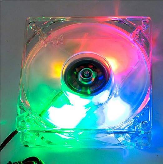 Chengleilei Chasis Transparente Ventilador Placa Base Doble Grande ...