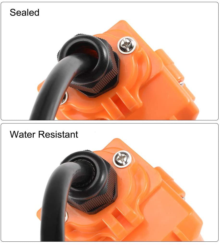 contratuerca de nylon impermeable para cable de 4.3-6.1mm de di/ámetro sourcing map Prensaestopas M20 2 agujeros