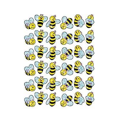 Trend Enterprises Buzzing Bumblebees Sparkle Stickers (72 Piece), Multi: Toys & Games