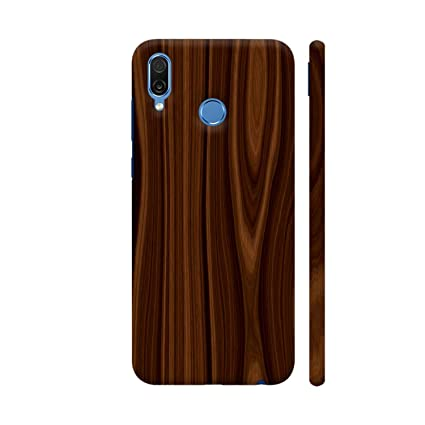 Colorpur Brown Wooden Print Printed Back Case Cover for
