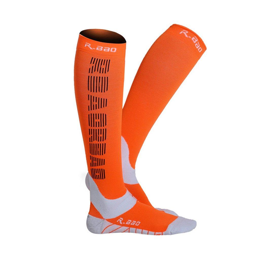 UB R-Bao Professional Night Reflective Running Performance Breathable Footwear Socks Orange by UB R-Bao