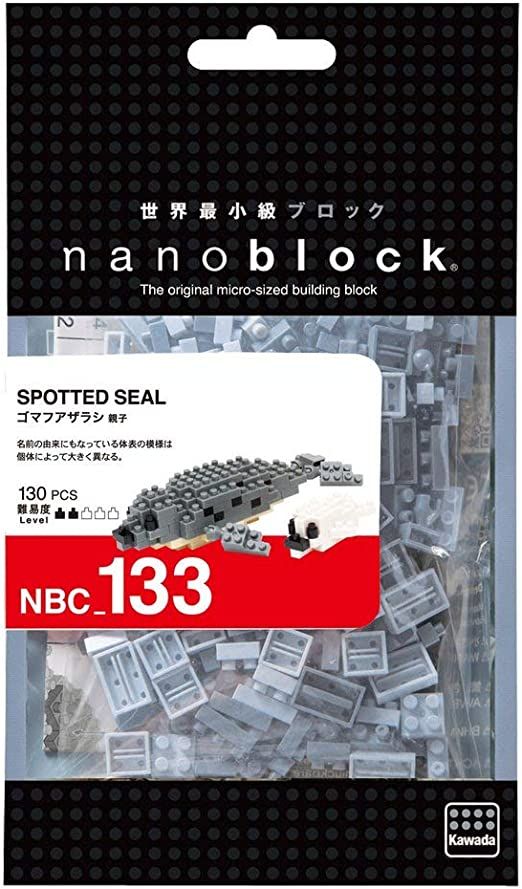 Nanoblock Spotted Seal Building Kit Ohio Art NBC133