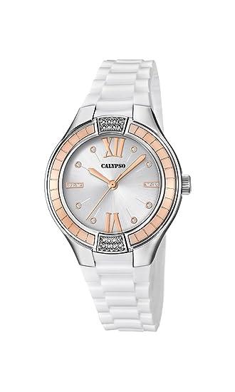 Calypso Reloj Análogo clásico para Mujer de Cuarzo con Correa en Plástico K5720/1: Amazon.es: Relojes