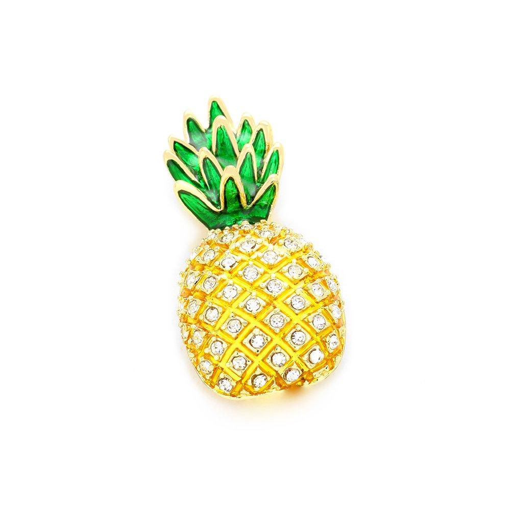 Joji Boutique: Golden Crystal Pineapple Pin [Island Style]