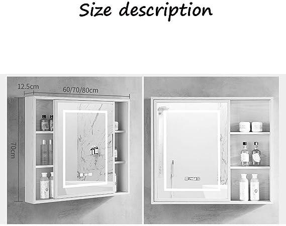 Mueble de Espejo para baño Inteligente Mueble de Espejo LED Mueble ...