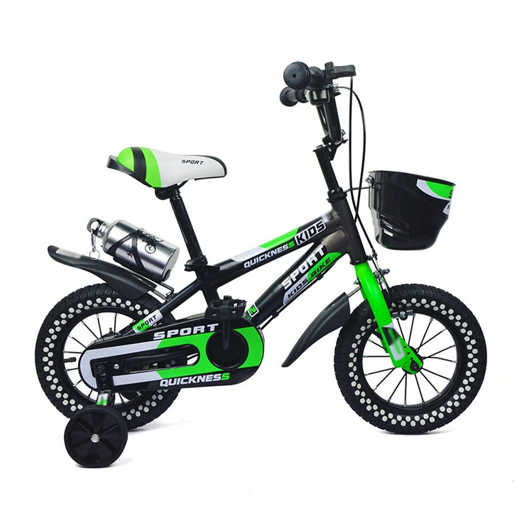 HAIZHEN マウンテンバイク 子供用自転車 グリーンオレンジ サイズ:12インチ、14インチ、16インチ、18インチ アウトドアアウト 新生児 B07CG3QRR4緑 16 inch