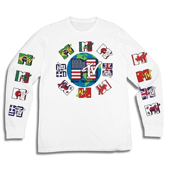 Amazon Mtv Mens Long Sleeve Shirt Tbt Mens 1980s Clothing