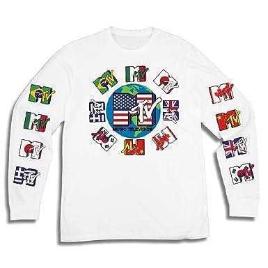 ef9a1d025 Amazon.com: MTV Mens Long Sleeve Shirt - #TBT Mens 1980's Clothing - I Want  My T-Shirt: Clothing