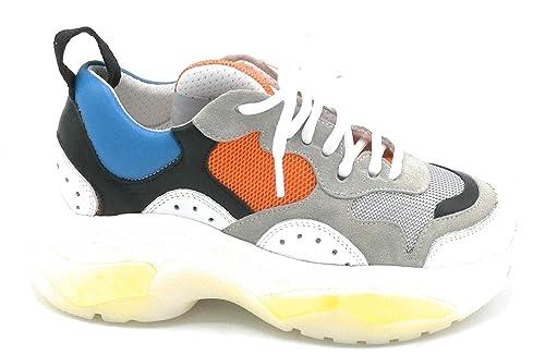 Multicolor Lacci Tessuto Rg03v8 Sneaker Camoscio Ovye Pelle Taglia nwOk0PX8