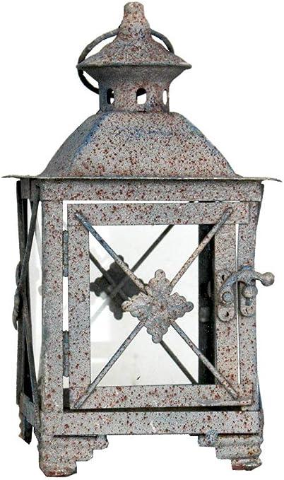 Keyhome - Farol portavelas de Hierro, decoración para la casa, Fiesta de Boda, jardín, diseño - Altura 27 cm: Amazon.es: Hogar
