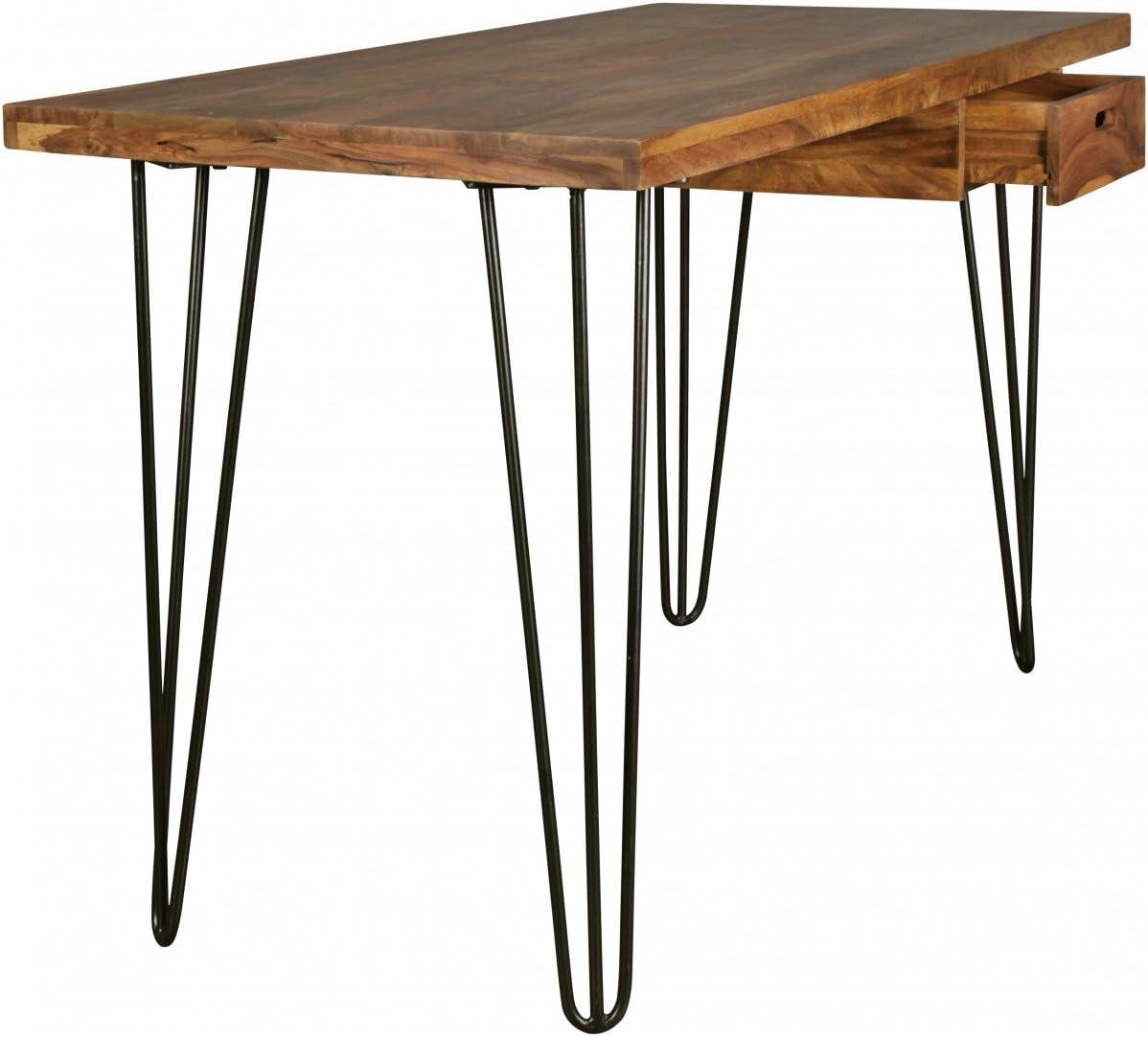 Home Collection24 Escritorio bagli marrón 130 x 60 x 76 cm Mesa ...