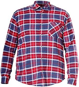 Lahti Pro Camisa de trabajo de franela para hombre, camisa de estilo leñador, 100% algodón, diseño de cuadros, CE/EN 340, Rojo, L4180101: Amazon.es: Bricolaje y herramientas