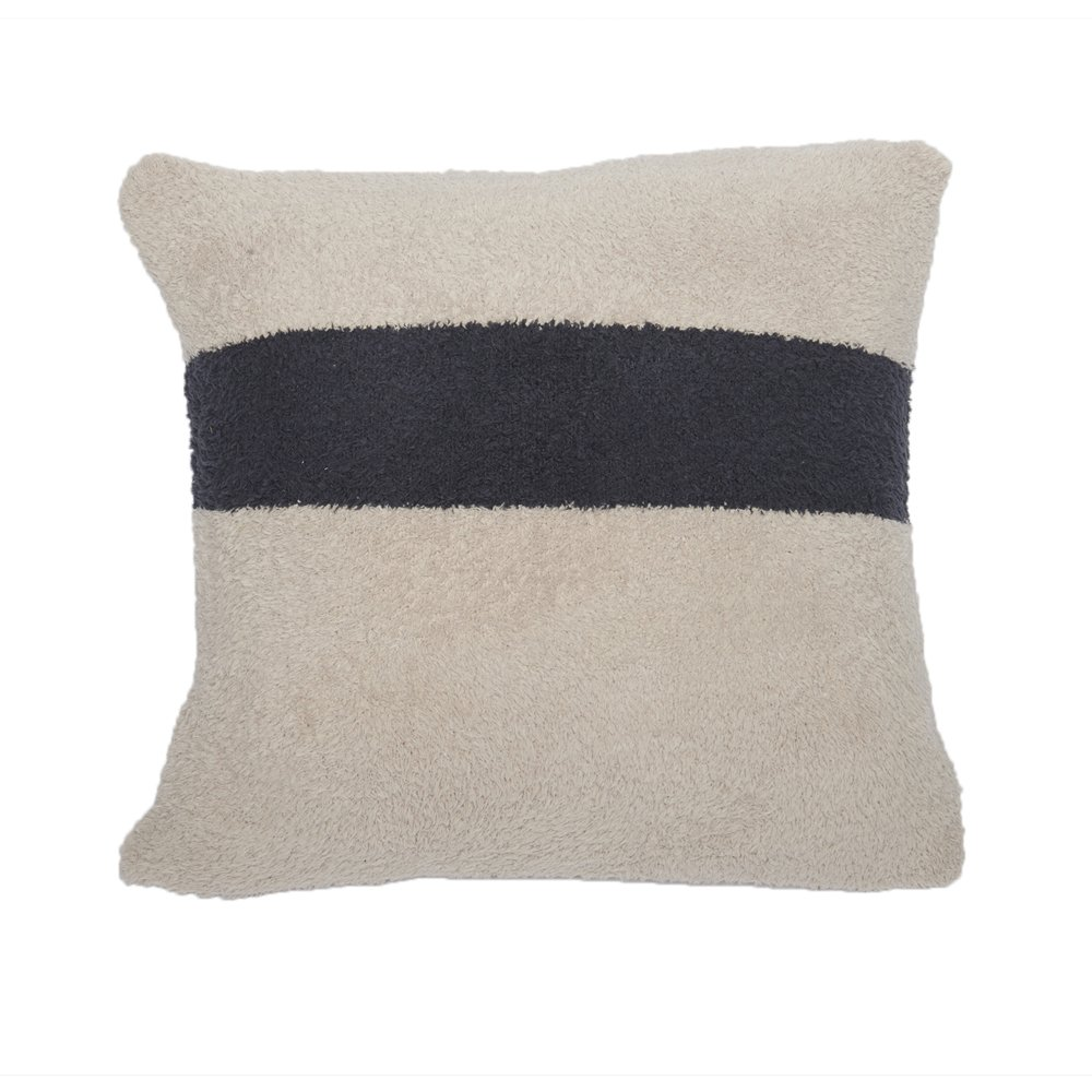 Barefoot Dreams Cozychic Throw Pillow Cover & Insert 24''x24'' (Stone)