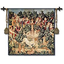 "Fine Art Tapestries ""The Unicorn is Found Wool and Cotton"" Wall Tapestry"