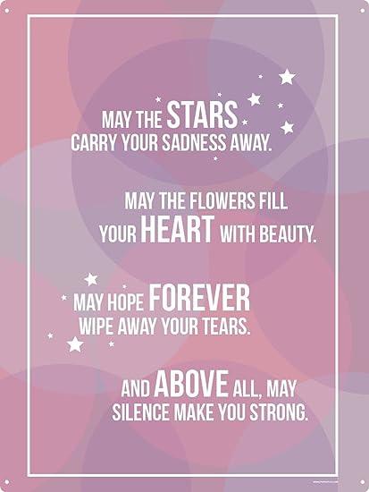 Amazon com: May The Stars Carry Your Sadness Away Tin Sign