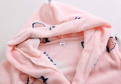 Amazon.com: Kids Bathrobe Girls robe Boys Dressing Gown Pyjama Fleece Cute print Sleepwear Soft Loungewear Nightwear Hooded 4-12Years: Clothing
