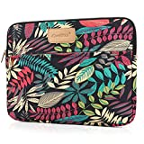 CoolBELL 12.9 Inch iPad Pro Sleeve Case Surface Pro 4 Cover With Colorful Leaves Pattern Fabric Sleeve Canvas Bag Exclusive For iPad Pro / Surface Pro 4 / 12 Inch New Mabook / Women / Men
