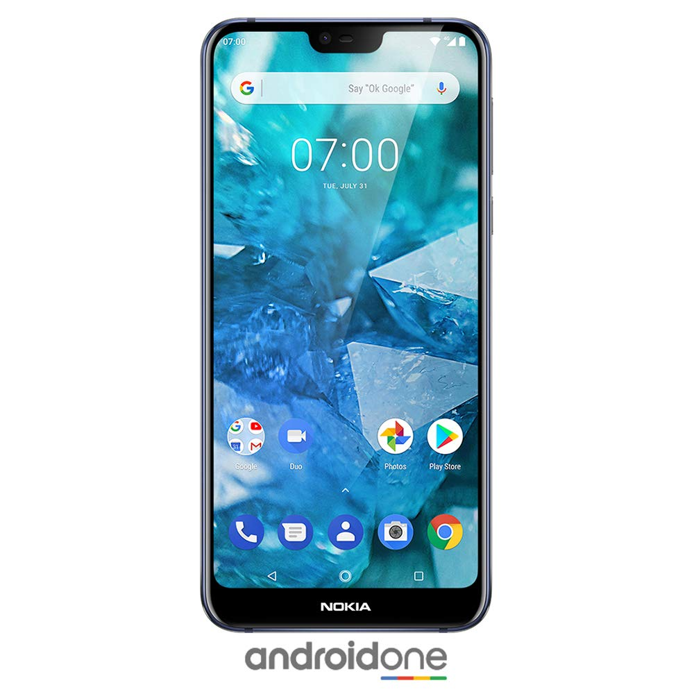 Nokia 7.1 - Android 9.0 Pie - 64 GB - 12+5 MP Dual Camera - Dual SIM Unlocked Smartphone (at&T/T-Mobile/MetroPCS/Cricket/H2O) - 5.84'' FHD+ HDR Screen - Blue - U.S. Warranty by Nokia (Image #1)