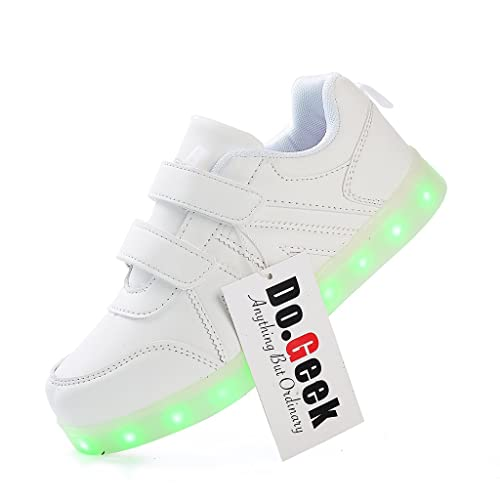 5c165b4f2 DoGeek Zapatos Led Niños Niñas 7 Color USB Carga Deportivas De Luces  Zapatillas(Mejor Pedir