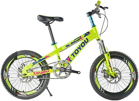 ZXC Bicicleta para niños, Bicicleta de montaña Frenos de dos discos Muchacho de velocidad variable Estudiantes de la escuela primaria 6-8-10 años 20 pulgadas (Color : Amarillo , Size : 20INCH) : Amazon.es: Juguetes y juegos