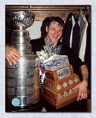 Signed Claude Lemieux Picture - N.J. Devils 1995 Stanley Cup & Conn Smythe 8x10 - Autographed NHL Photos