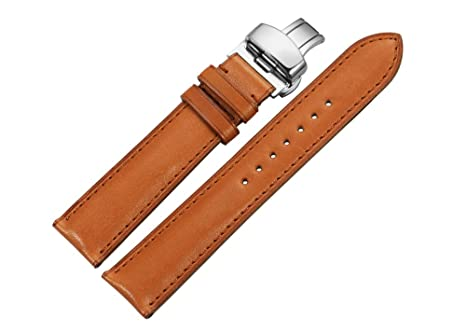 istrap calf leather watch strap 20mm steel deployment clasp buckle istrap calf leather watch strap 20mm steel deployment clasp buckle watch bracelet mens replacement brown