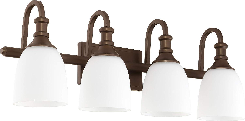 Quorum Lighting 5011-4-80 Richmond Bathroom Light Aged Brass