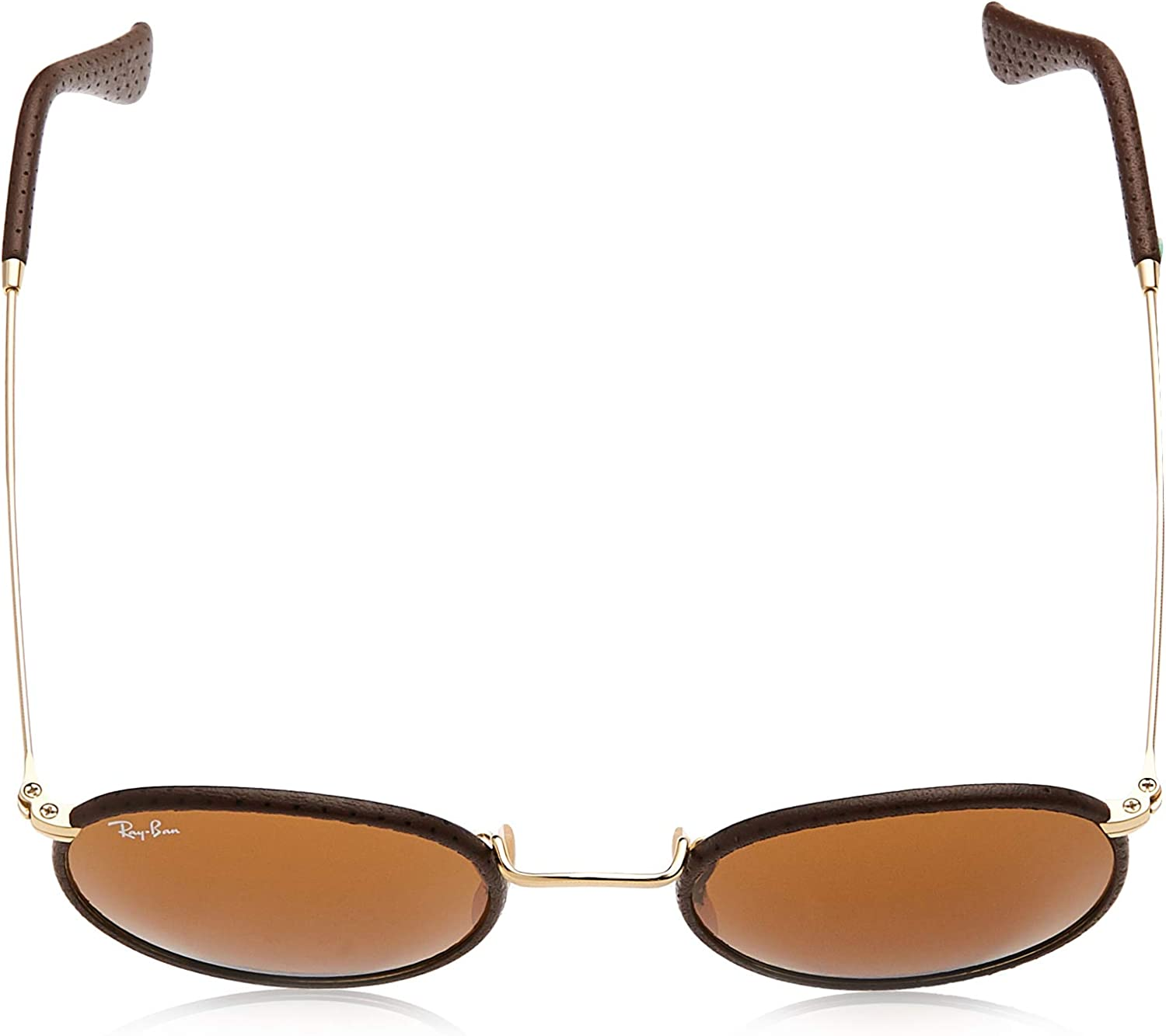 Ray-Ban Sonnenbrille ROUND CRAFT (RB 3475Q) Marron (Leather Brown/Brown)