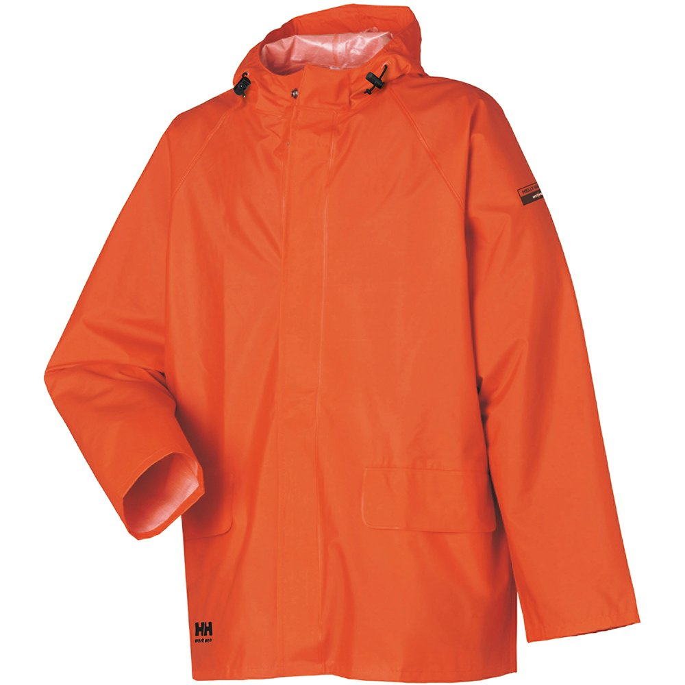 Helly Hansen Workwear Men's Mandal Rain Jacket, Dark Orange, 4X-Large