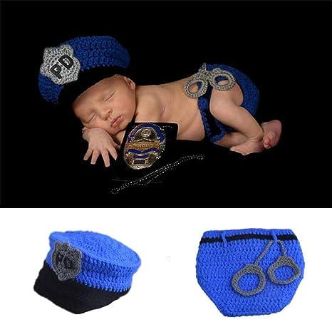 Disfraz de bebé fotografía policía traje lindo divertido ...