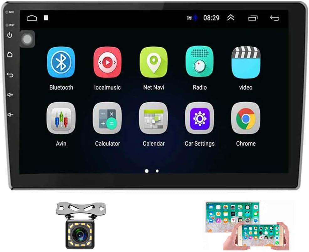 10/'/'2 Din Android GPS Autoradio+Cám  Enlace Espejo Pantalla Táctil FM Wifi BT