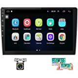 Hikity 10.1 Inch Android Car Stereo with GPS Double Din Car Radio Bluetooth FM Radio Receiver Support WiFi Connect Mirror Lin