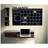 """ArtKisser Large Monthly Chalkboard Wall Calendar Monthly Planner (24""""x 36"""", Vintage) for Office, Kitchen and Refrigerator Erasable and Durable Sticker Decal"""