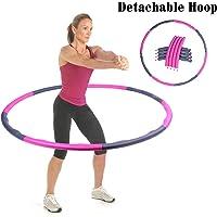 95 cm de ancho p/érdida de peso Kaikai Hula Hoop desmontable Hula Hoop de espuma acolchada para adelgazamiento 1 kg