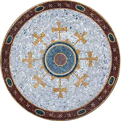 Byzantine Mosaic Art Medallion - Arela | Mosaic Art | Mosaic Designs | Mosaic Artwork | Mosaic Wall Art By Mozaico | Handmade Mosaics