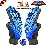 Pet Grooming Glove, Gentle Pet DeShedding Brush gloves,...