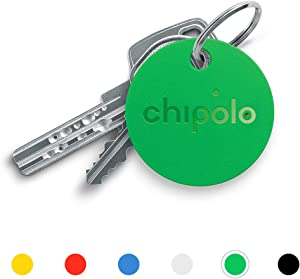 Chipolo Classic Bluetooth Key Finder and Phone Finder, 92dB Alarm Sound, 200ft Work Range, Replaceable Battery Smart Key Tracker Locator - Green