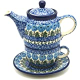 Polish Pottery Tea Time for One - Antique Rose