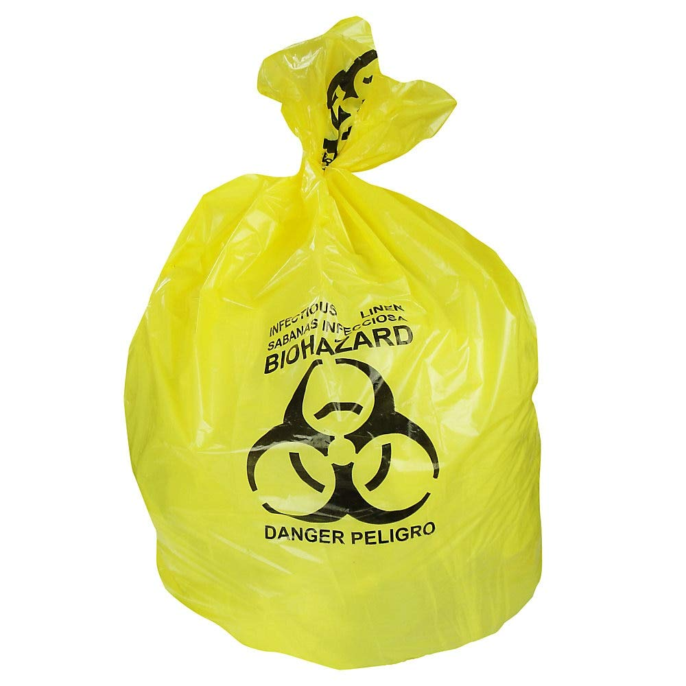 Heritage Healthcare Biohazard Can Liners, 44 Gallons, 37'' x 50'', 1.3 Mil, Yellow, Box of 150 by Heritage Products