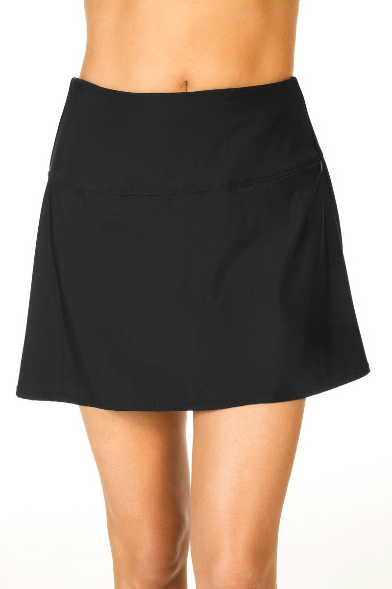 Miraclesuit Women's Separate Fit and Flair Skirt Bottom Black Swimsuit Bottoms