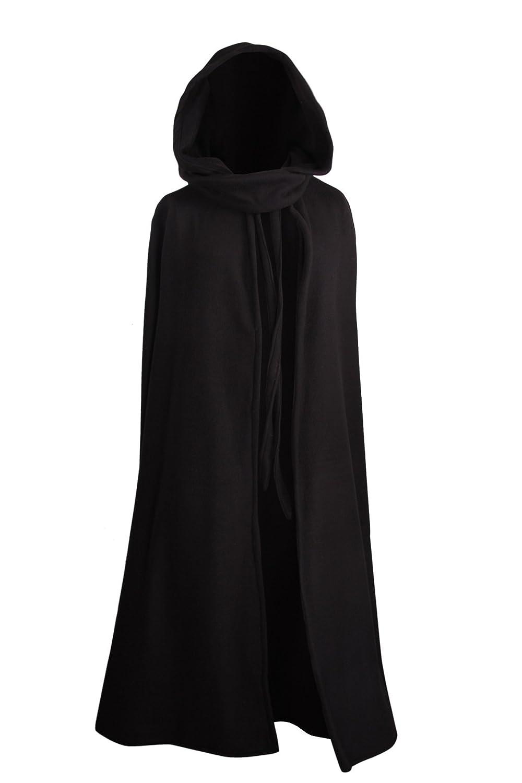 Kreativwunderwelt Mittelalterlicher Fleece Umhang - wärmend - schwarz L130
