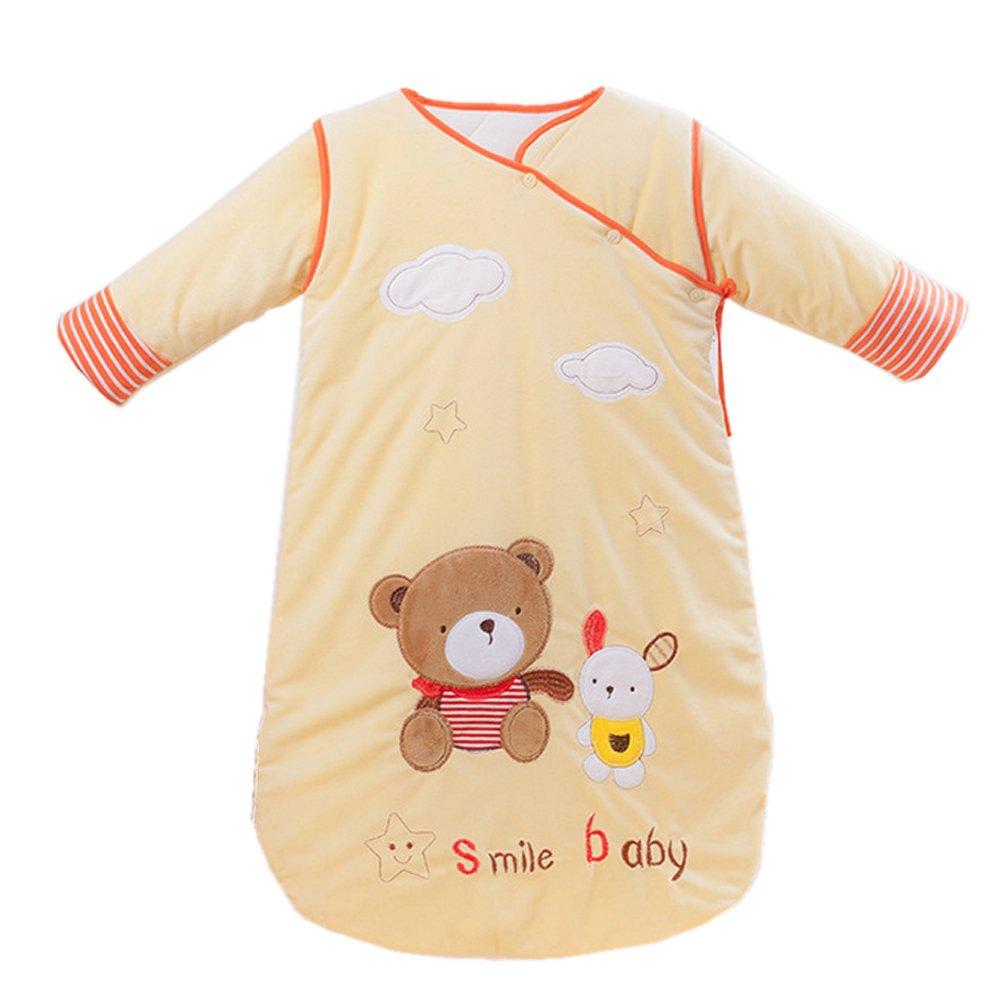 Baby Sleeping Bag Sleep Sack Bag Sleepingbag Sleepwear Long Sleeves Perfect Kids Gifts in Winter 0-12 Months (yellow) coffled