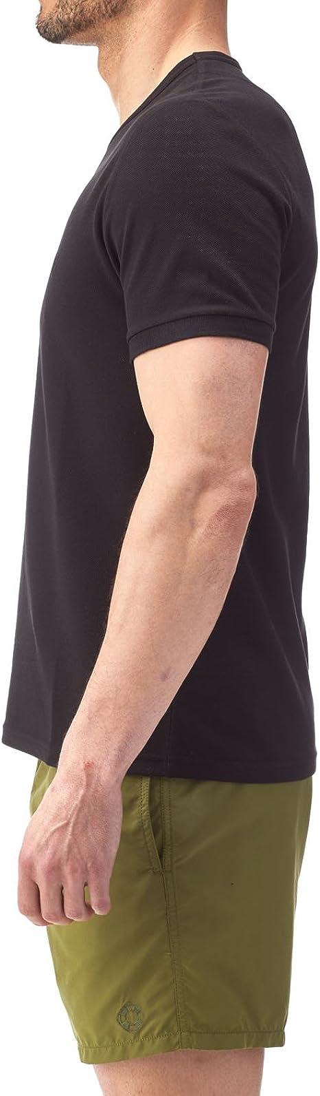 Camiseta Lisa de Cuello Redondo en piqué de algodón - Hombres ...